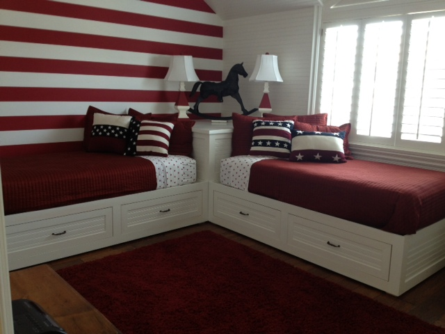 Custom wood furniture orange county custom wood furniture for Room design 2 twin beds