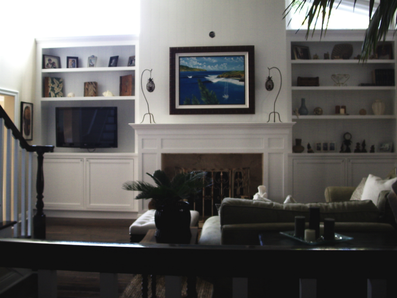 book-shelving-and-mantel