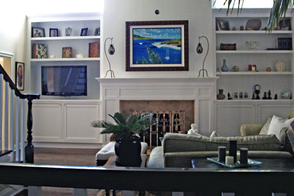 built-in-Book-Shelving-mantle